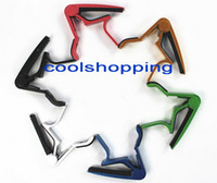 Wholesale 50pcs DHL aluminum alloy Guitar Capo Clamp For Electric Acoustic with retail package
