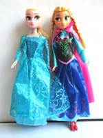 Wholesale Frozen Dolls Frozen Princess Anna Elsa Frozen Toys Good Girl Gifts Christmas Halloween Gift sets Without Retail Package