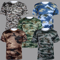 PVC   Summer Outdoors Hunting Camouflage T-shirt Men Breathable Army Tactical Combat T Shirt Military Dry Sport Camo Outdoor Camp Tees