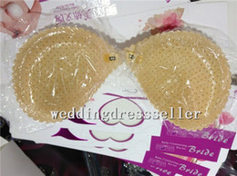 Wholesale Generous Ivory Invisible bra Self Adhesive Seamless Lace Silicone Breast Padding Form Bra Size A B C D For Wedding Evening Corsets Push up