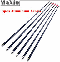 Wholesale NEW Superfine quot Shaft Dia mm Aircraft Aluminum Arrow Plastic Feather for lbs Compound Recurve bow Archery Arrows