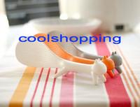 Wholesale DHL Cute Plastic Handle Squirrel Spoon Vertical Non stick Rice Spoon Creative Rice Shovel