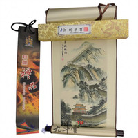 Wholesale Gift Box Printing tapestry scrolls the Great Wall glory hanging scroll reel Foreign Affairs gifts to send foreigners foreigners love