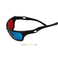 Wholesale Red Blue Plasma TV Movie Dimensional Anaglyph Framed D Vision Glasses