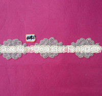 beaded trim wholesale - Luxury Newest Bling crystal rhinestone applique beaded appliques motif trimming for Wedding Dress Decoration