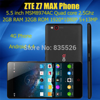 Wholesale Original ZTE Nubia Z7 Max Phone G FDD LTE Mobile Phone Qualcomm CPU GHz quot FHD x1080 GB RAM GB ROM MP Camera Android