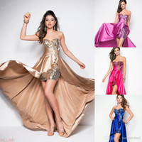 Top Selling Bridesmaid Dresses 2015 Bling Crystal Sequins Hi...