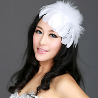 feather wedding hair pieces