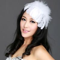 feather wedding hair pieces