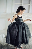 Wholesale Gold Black Lace Princess Dresses Iridescent Crystals Bead Ruffle Dress Plrated Veil Dress DHL EMS FEDEX Fast SZ0056