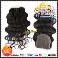 "Cheap 6A grade brazilian raw remy hair silk base lace closure with body wave texture 8-26"" natural color full cuticle free shipping DHL"