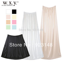 Wholesale autumn skirt Chiffon one piece within slip full lining bust skirt lining basic skirt summer edition