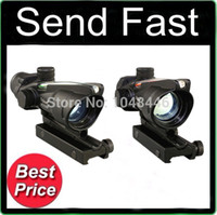 Wholesale Tactical Trijicon ACOG Style X32 scope Sight RED Dot Optics with Real Fiber scope mm picatinny Full metal construction Alloy