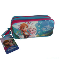 Cheap Fashion Frozen Pencil Case Stationery bags Frozen Cartoon Princess Elsa and Anna Pencil Bags for Kids Children School Bags Free Shipping