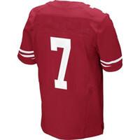 Wholesale Colin Kaepernick Scarlet Elite Jersey American Football Jerseys Men Women Youth Kids Sportswear Rugby Mix Order