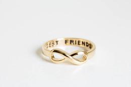 Wholesale 10pcs best friend infinity rings infinity rings infinity jewelry eternity rings jewelry rings graduation rings infinite rings JZ020