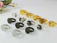 adjustable ring blanks - 50Pcs MM Pad Adjustable Ring Blanks finger ring blanks blank finger rings Blank ring base adjustable finger ring base