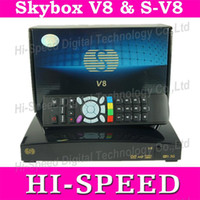 Wholesale Original SKYBOX V8 Digital Satellite Receiver S V8 Set Top Box S V8 Support WEBTV x USB USB Wifi G Youtube Youporn CCCAMD NEWCA