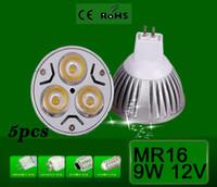 Wholesale High quality CREE dimmable LED lamp MR16 Gu10 E27 E14 Gu5 w w V LED Spotlight LED Lamp Bulb Light