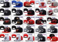 Wholesale Basketball Snapback Baseball Snapbacks All Team MLB Snap Back Hats Womens Mens Flat Caps Hip Hop Snap Backs Cap Cheap Sports Hats New