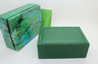 Wholesale LuxuryGreen With Original Rolex Watch Box Papers Card Wallet Boxes Cases Luxury Watches