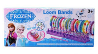 Cheap 50sets frozen loom bands rainbow loom DIY toys Kit looming kits Rubber band bracelets gifts for children anna elsa Cheap 40070814678
