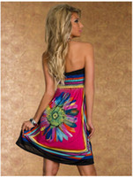 Wholesale new women summer dress print fashion casual party sexy desigual vestidos