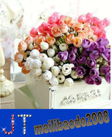 Wholesale Christmas Supply Mini Rose Artificial Flowers Colors Selection Rosebuds Star Party Decoration Wreaths Silk Bud HSA0765