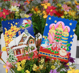 Wholesale Factory direct sales Hot Greeting card Xmas card Creative Christmas tree greeting card Christmas post card flowers hanging card