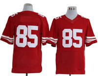 Wholesale Cheap Hot Sale Elite jerseys Vernon Davis RED Stitched Authentic jersey American Football Jerseys