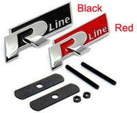 Wholesale Rust free for R Rline VW CC GTI Passat Golf New D front Grill Grille Decal Badge Emblem Sticker Metal Alloy D