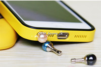 blackberry pearl - Universal MM Interface Pearl Anti Dust Jack Plugs Earphone Dustproof Ear Cap Stopper for iPhone iPad Samsung Blackberry Smart Phone