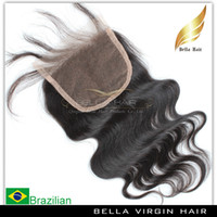 Wholesale Brazilian Body Wave Hair Weaves Remy Virgin Human Hair Lace Closure Weave Free Part Natural Black Color Grade A High Quality Fast Shipping