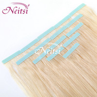 Wholesale Best Quality Indian quot Tape Hair Extensions inches g pc Human Hair Extensions Straight Brazilian Ponytail Clip in Human Hair