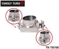 Wholesale Tansky Universal MM CNC Billet Aluminum High Flow Air Intake Manifold Engine Throttle Body Silver TK TB100