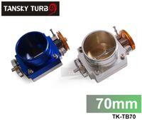 Wholesale Tansky Universal Upgrade Aluminum Blue MM Throttle Body Intake Manifold MK1 MK2 MK3 Silver Blue TK TB70