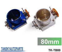 Wholesale UNIVERSAL mm quot CNC Aluminum High FlowTHROTTLE BODY TK TB80 silver blue have in stock TK TB80