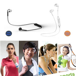 Wholesale Bluedio Energy S2 Bluetooth V4 Headset Stereo Earbuds Earphone Wireless Sports Headphones Built in Microphone Water proof Sweat proof DHL
