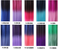 Wholesale Gradual Punk style Wig Popular Colored Clip color Symphony Hair extensions