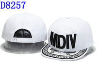 Cheap Wholesale MDIV hats snapback hats popular fashion hats brand peaked caps men and women caps 5 panel snapback caps lovely hats top quality