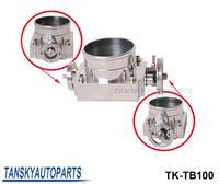 Wholesale High performance Universal MM CNC Billet Aluminum High Flow Air Intake Manifold Engine Throttle Body Silver TK TB100