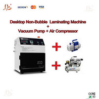 Cheap Free Shipping! Automatic Vacuum Non-Bubble OCA Laminating Machine + Air compressor + Vaccum pump
