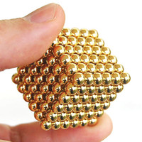 Wholesale 216 Diameter mm Buckyballs Neocube Neo Cube Puzzle Magnetic Magnet Gold Balls Spacer Beads Education Toy Box