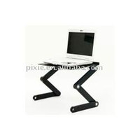 Cheap T6 quality goods Folding Laptop Table Aluminum alloy notebook bed folding computer desk radiator Ipad bracket