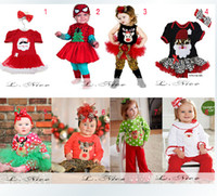 lycra t shirt - 2015 Baby Newborn Toddler Girl Boy Child Spiderman Hallowmas Christmas Reindeer Santa Claus T Shirt Pant Dress Headwear Outfit H0140849
