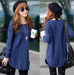 Wholesale Retail New Women Clothing Autumn Winter Fashion Long Sleeve Round Collar Knitwear Casual Bottoming Women Sweater Coat overcoat MA645