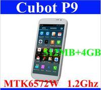 Cheap SZDEVEC Original Cubot P9 Mobile Phone MTK6572 Dual Core Android 4.2 OS 512MB RAM 4GB ROM 5.0 Inch QHD Screen 8.0MP Camera WCDMA 3G