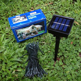 Wholesale Outdoor Solar panel Powered Colors M Light LED String Fairy Automatic Garden Waterproof Christmas Party Decoration Lamp