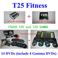 Wholesale Newest DVDs Focus T25 fitness Fast Shipment Shaun T s Crazy Potent Slimming Training Set Alpha Beta Gamma Core Speed T25 Workout set