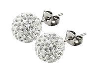 achat en gros de ouvrir des bijoux de mode-La meilleure qualité! 6mm 12 paires Swarovski Crystal Shamballa perles pavés perles de boules de discothèque 925 boucles d'oreilles en argent sterling Studs bijoux de mode